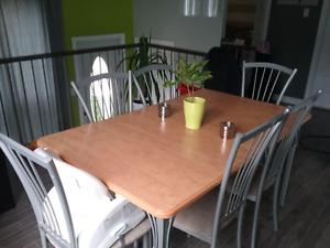 Table et chaises Amisco