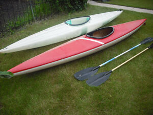 Two 13' Kayaks with Paddles