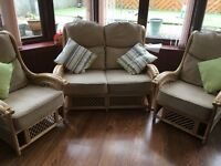 Conservatory Sofa & 2x Chairs - will deliver locally