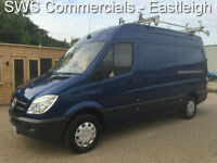 2010 (60) MERCEDES SPRINTER 313 CDI MWB/ HIGH ROOF BLUE EX SOUTHERN ELECTRIC 99k