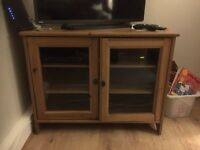 Matching TV cabinet and book case