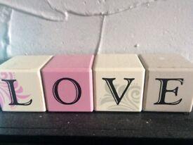 Love blocks home decoration