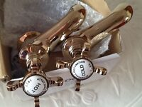 Brand new gold traditional bath taps