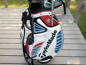 """""""Warrior"""" Custom Clubs,Taylor Made bag autographed by Mike Weir"""