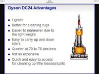 Dyson dc24 rollerball light and compact