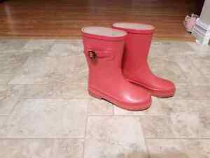 Girls rain splash boots Firefly size 13 ALMOST NEW