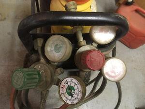 acetylene & oxygen tanks