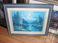 Painting Framed in Blue colors . very pretty.