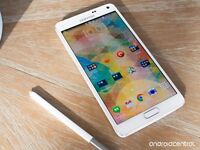 White samsung note 4 unlocked mint condition with chsrger 32gig price 200
