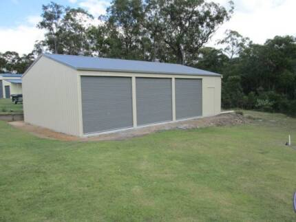 TRIPLE GARAGE + WORKSHOP 12X7X2.7  SHEDS GARAGES GYMPIE