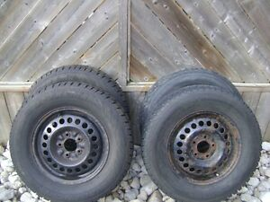 Winter tires and rims for a Chevy venture or Pontiac montana Cambridge Kitchener Area image 1