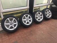 Genuine 17inch 5x112 Audi A4 Alloys**Like New Tyres**