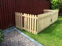 * Reduced* Wooden 3 sided dog run/pen/enclosure