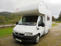 Burstner A530 motorhome for sale with rear washroom