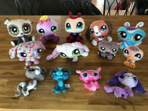 Lot de 13 Peluches - Toutous -  LPS - Littlest Pet Shop