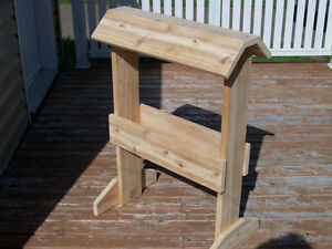 Hand-crafted saddle stand made from solid cedar
