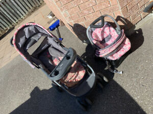 Single Stoller,  Double Stoller, Jumper 3in1 Car Seat- $50 each