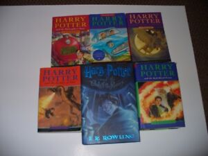 Lot of 6 COVER Harry Potter Books