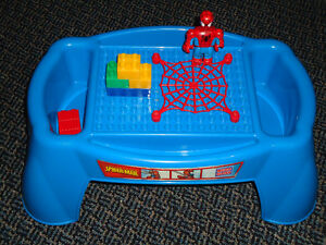 Mega Bloks Spiderman Lap Table Desk--Medium Blocks