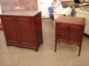 2 MAHOGANY CABINETS STORAGE AND DRINKS  ANTIQUE