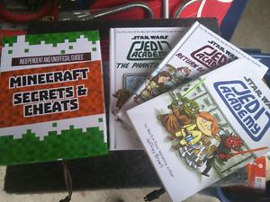 Minecraft and Jedi academy book sets