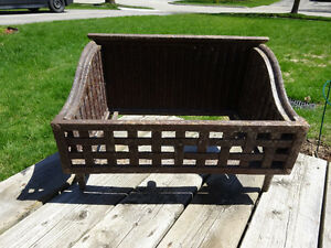 Antique Cast Iron Coal Grate - Great Garden Planter