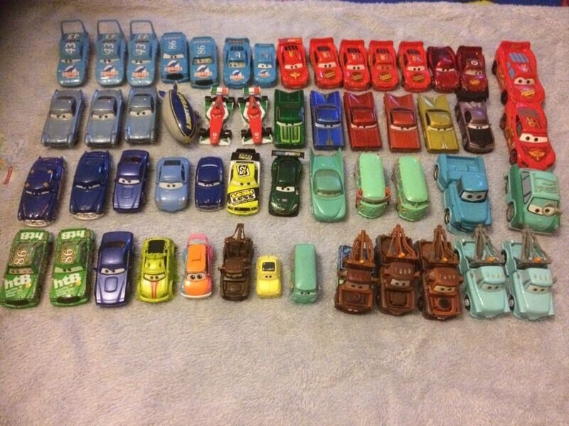 Disney diecast metal cars and other Disney cars bundle