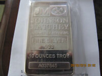 Trade my 10 oz silver bar for your yellow gold jewelry 14kt+