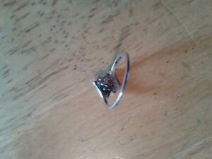 Cubic Zirconia  Sterling Silver Ring London Ontario image 2