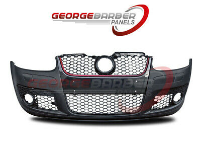 VW Golf Mk5 2004-2009 Front Bumper Complete - GTi Models Red Trim Grille New