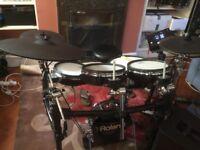 Roland TD-50K drum kit and speaker