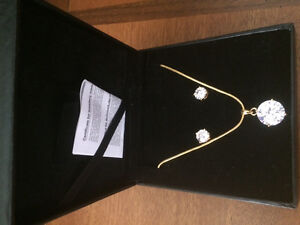 EARRING and Necklace set, ZIRCONIA Elements