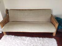Futon Company Oke 3 seater solid oak sofa bed