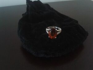 14K White Gold 6.5CT Citrine .25 Diamond Ring St. John's Newfoundland image 2