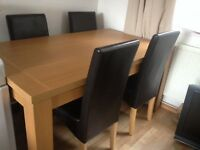 dining table and chairs VGC