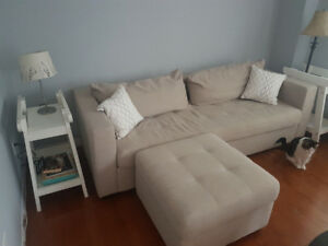 Couch and Ottoman for sale.