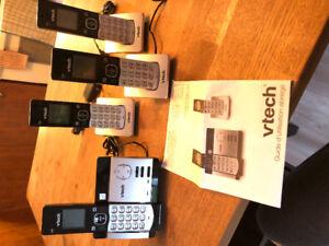 Système de téléphone sans fil vtech (4 combinés) phones