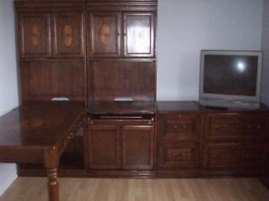 Large 7 piece Wooden Desk