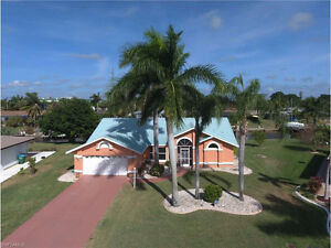 *Gulf Access POOL Home on Oversized Lot in Cape Coral, FL  USA**