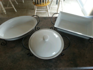 Large dishes with stands NEW