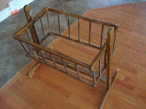 Vintage Wooden Rocking Cradle. London Ontario image 5