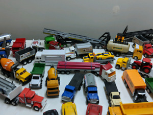 A lot of Die cast cars and trucks