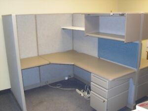Six Sets of Used Office Cubicle in Mint Condition