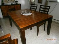 set de cuisine grande table carrée