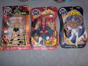WWE,WWF  Lot Of 5 Wrestling Figures,Mysterio,Jericho, Lesnar