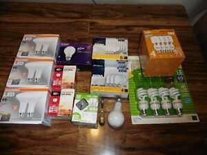 35 incandescent and CFL bulbs