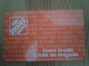 1250 Home depot gift card / store credit
