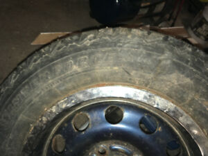 185/70R14 Winterforce studded snow tire - good spare on rim