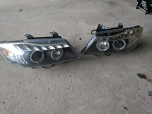 BMW e90 headlights with HIDs included 3 headlights all together!