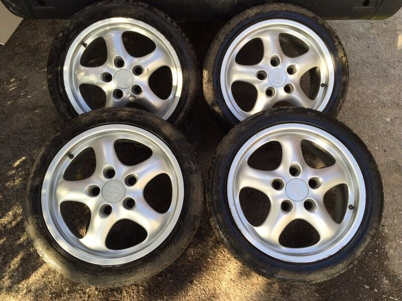 "Rims For Cheap >> Porsche 17"" cup 2 alloy wheels alloys 944 964 993 928 968 vw camper 911 staggered rims 